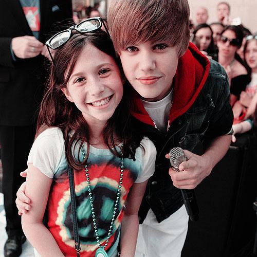 Justin Bieber mit Fan