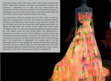 LED Kleid – das Galaxy Dress!