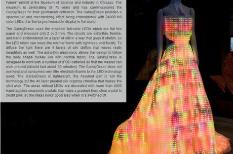 LED Kleid – das Galaxy Dress!