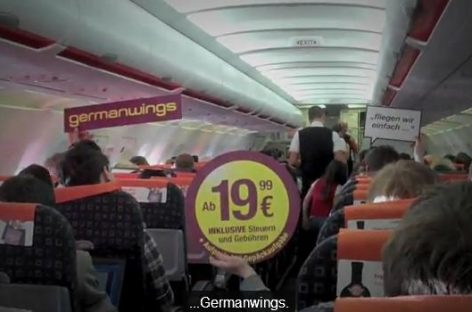 "Germanwings Werbung via ""Planemob"""