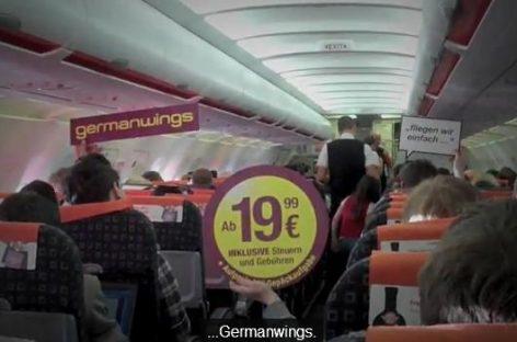 """Germanwings Werbung via """"Planemob"""""""