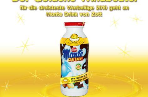 Der goldene Windbeutel geht an: Monte Drink von Zott