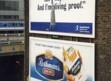 Schlecht platzierte / fehlplatzierte Werbung